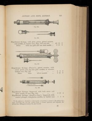 view Hypodermic Syringes. Manufacturer's catalogue, p. 321.