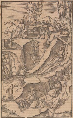 view De re metallica libri XII. Georg Agricola, 1556.