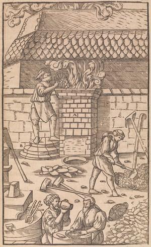 view De re metallica libri XII. Georg Agricola, 1556.