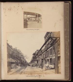 view Folio 6 recto : New York City, USA: an elevated railway.