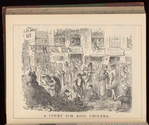 view 'A court for King Cholera' - Illustration by John Leech.