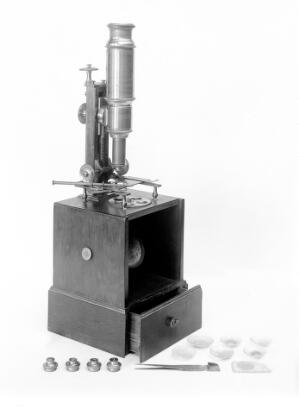 view Nachet collection: French microscope
