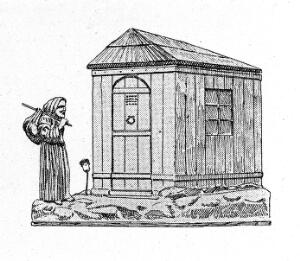 view Lepers' retreat in cast iron. 15th century