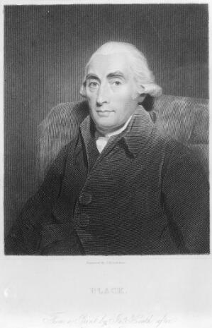 view Joseph Black. Stipple engraving by J. Posselwhite.
