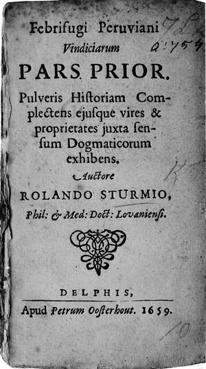 view Title page, Febrifugi Peruviani,...