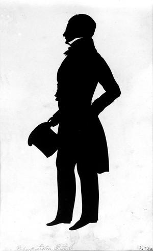 view Robert Liston. Printed silhouette.