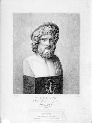 view Bust of Aesculapius