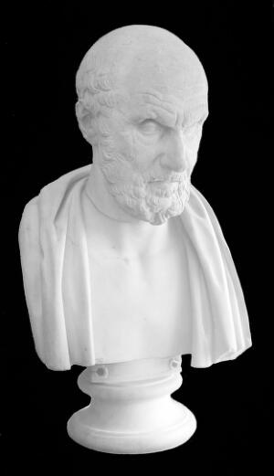 view Bust of Hippocrates.