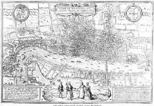 view Plan of London in the Middle Ages.