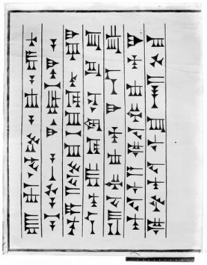 view Drawing of Cuneiform from the Ninevah expedition