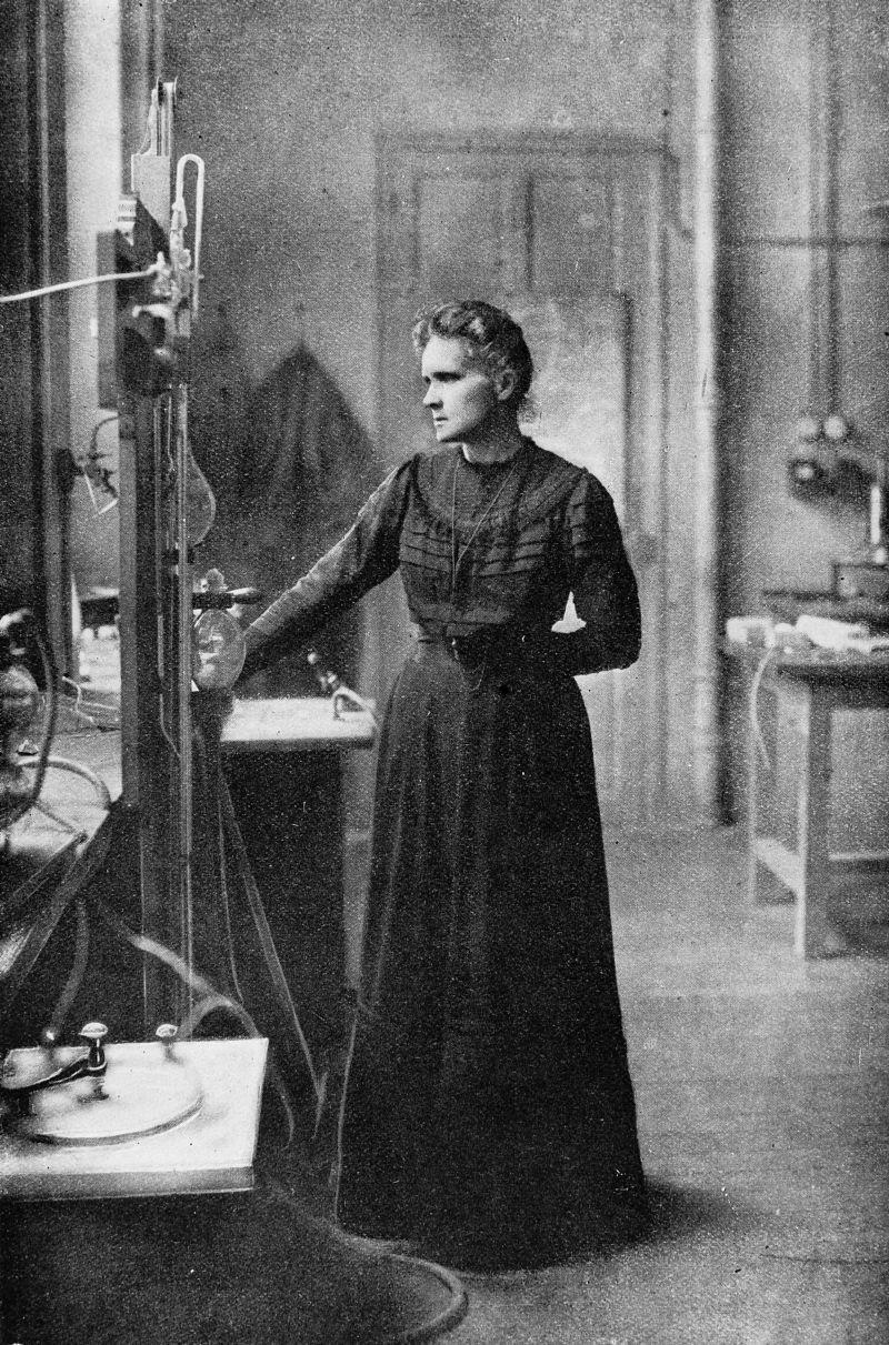 Portrait Of Marie Curie 1867 1934 Polish Chemist