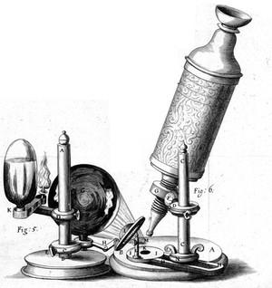 view Robert Hooke, Micrographia, detail: microscope
