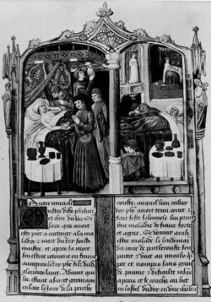 view Miraculous Cure of Master Dydo, physician to Louis IX in 1271.