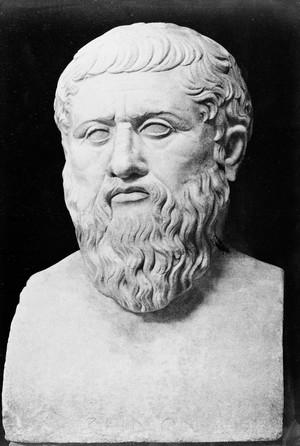 view Portrait of Plato; bust.