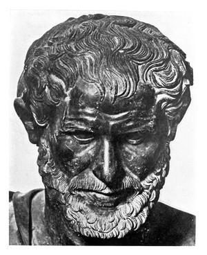 view Portrait: bust of Aristotle.
