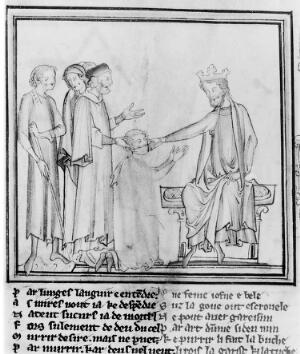 view Edward the Confessor touching for the evil.