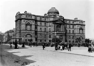 view Glasgow Royal Infirmary, 3/4 front.