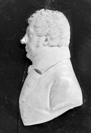 view Wax plaque: relief profile of Edward Jenner.