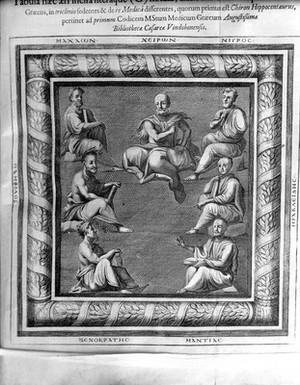 view Fathers of medicine, Discorides manuscript
