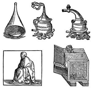 view Vapour baths apparatus, 16th century.