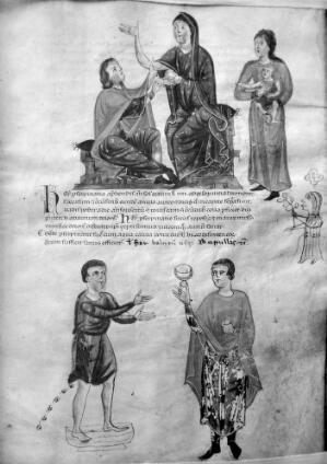 view Examination of nursing mother's breast, 13th Century