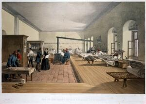 view 'One of the wards in the hospital at Scutari'.