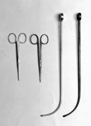 view Urethral sounds and sinus forceps, used by Lister.