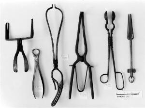 view Surgical instruments, 15th, 16th, 18th century.