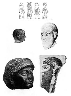 view Physical Anthropology of Semites and Sumerians. Sumerian types. Jastrow.