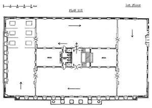 view Plan of Wellcome museum galleries: 1st floor showing new arrangement, 1942, Dr Daukes scheme: Renaissance, 17th century, 18th century, 19th & 20th centuries, history of disease, research.