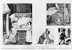 view 4 miniatures: bedside care and studies of the afflicted.