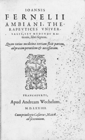 view Therapeutices universalis, title page.