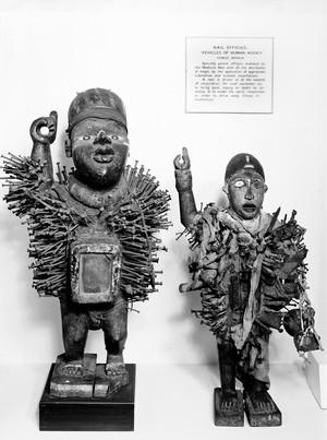 view Nail effigies, Congo, West Africa.