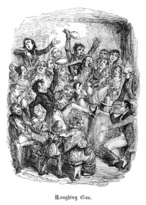 view Satire: 'Laughing Gas' after G. Cruikshank