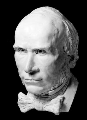 view Plaster cast from sculpture of John Snow by Ruth Poynter