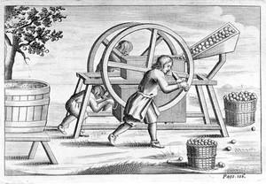 view Cider press, 17th century