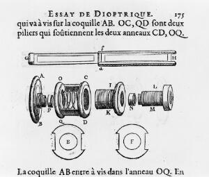 view Diagram of a single lense microscope.
