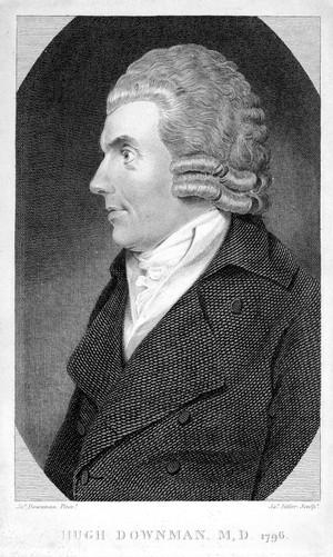 view Portrait of Hugh Downman.Head and shoulders, l. profile.