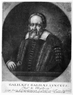 view Galileo Galilei. Mezzotint, 17--.