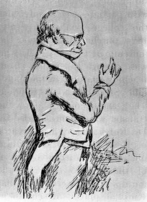 view Sketch of Robert Knox, by Edward Forbes.