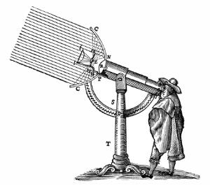 """view The """"Giant"""" compound microscope of Descartes."""