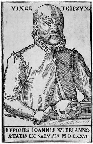 view J. Wier, De lamiis liber, portrait of Johann Wier.