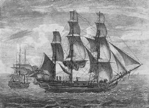view Portrait of Captain Cook setting out on his voyage.