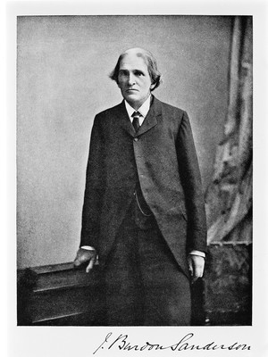 view Portrait of Sir John Scott Burdon-Saunderson, photograph from Lady Burdon Sanderson's