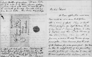 view Letter from Edward Jenner to Edward Davies, Esq.
