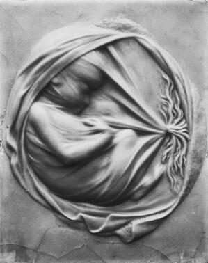 view Wax plaque of female anatomy and embryo
