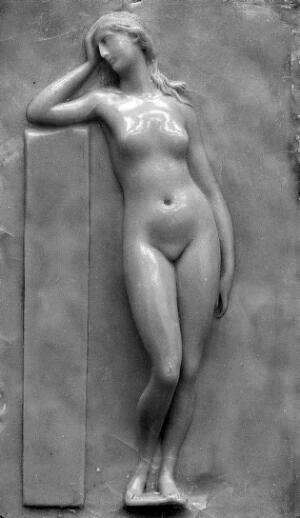 view German wax plaque of female nude
