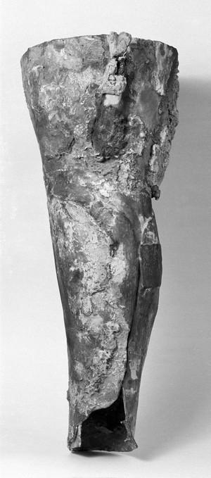 view Roman artificial leg of bronze.