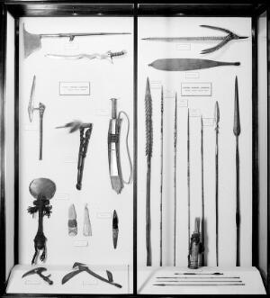 view Wellcome museum: primitive medicine, weapons