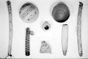 view Wellcome museum, primitive medicine, food preparation, 1946